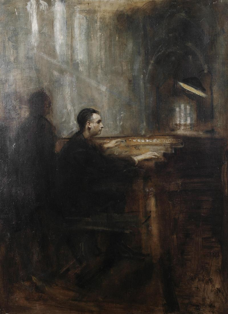 'Marcel Dupré at the organ of Notre-Dame' by Ambrose McEvoy.