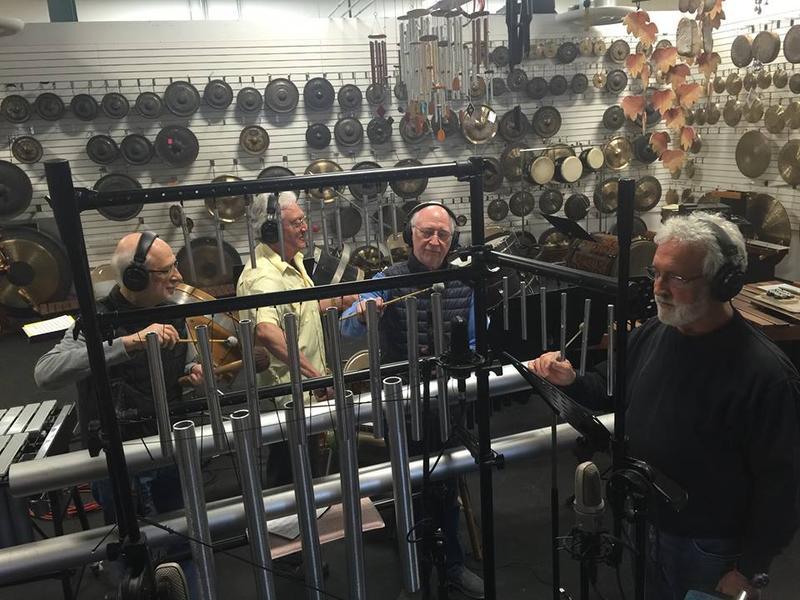 NEXUS recording Baird Hersey's piece with Garry Kvistad's Vistaphone