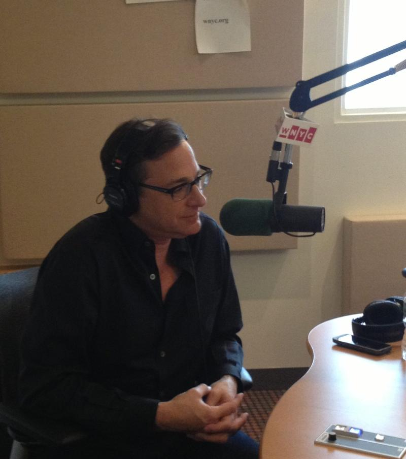 Comedian Bob Saget in the WNYC studios