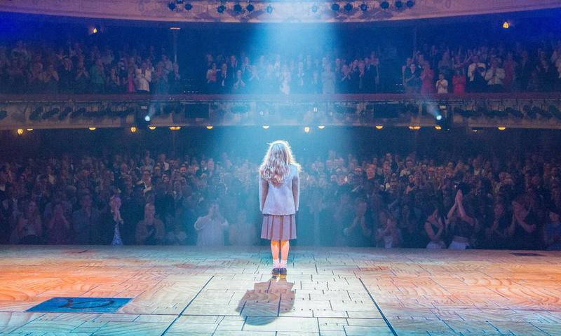 The actor playing Matilda takes her bow on opening night of Melbourne, Australia's production