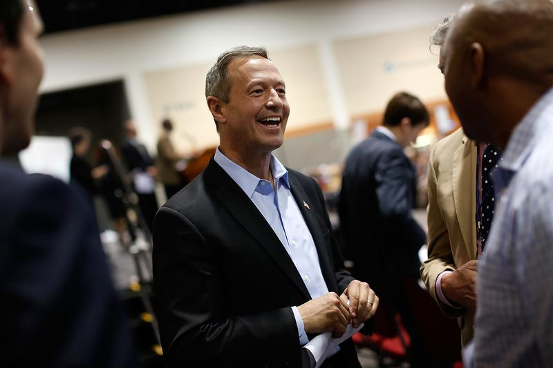 Potential Democratic presidential candidate and former Maryland Gov. Martin O'Malley (D-MD) greets South Carolina Democrats after speaking at the South Carolina Democratic Party state convention.