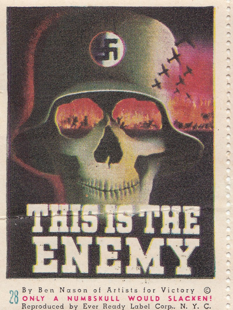 This is the Enemy stamp by Ben Nason of the Artists for Victory campaign