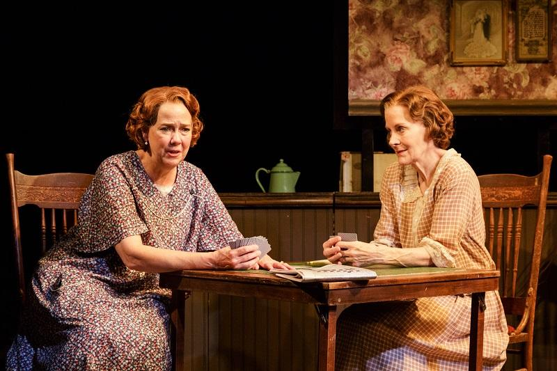 Harriet Harris and Hallie Foote in THE ROADS TO HOME at Primary Stages.