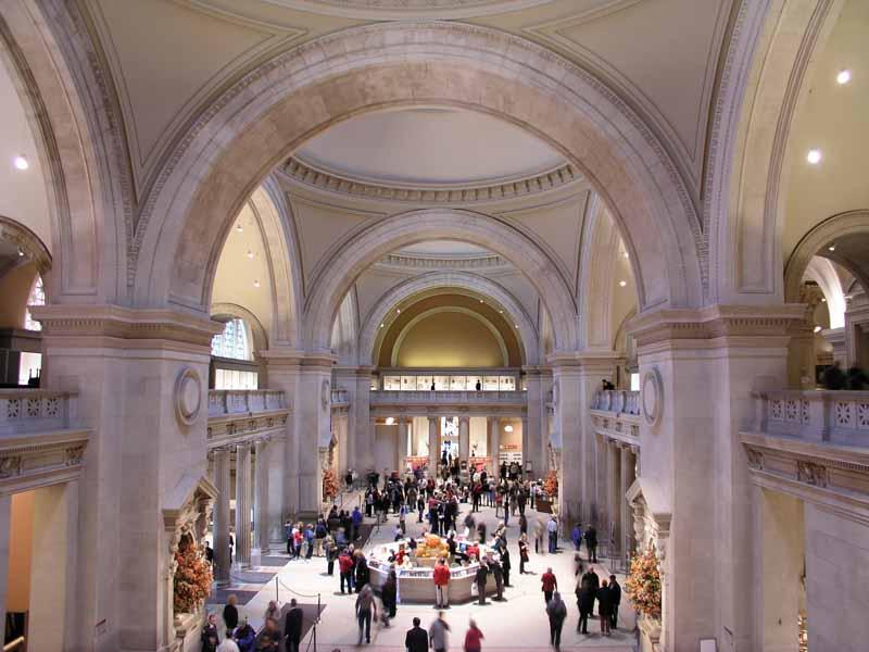 lobby of the Met Museum