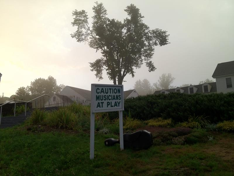 A welcome sign to the Marlboro Music Festival.
