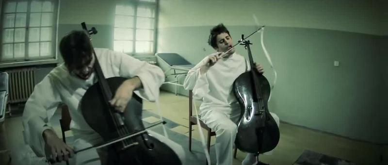 2 Cellos music video for 'Hysteria'