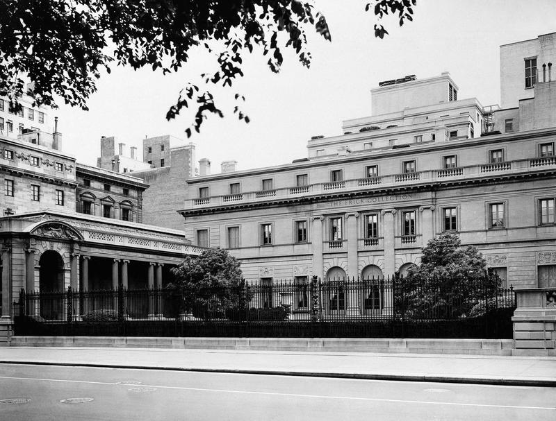 Exterior of Frick Collection Museum at 1 East 70th Street at Fifth Avenue.