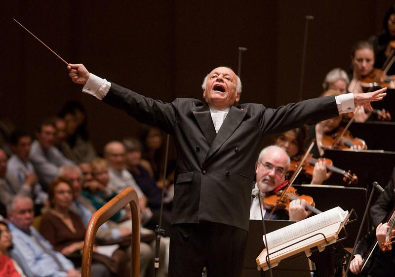 Conductor Lorin Maazel conducts The New York Philharmonic at Avery Fisher Hall, June 25, 2009.