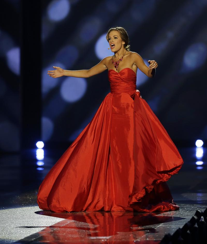 Miss Georgia Betty Cantrell sings opera during the Miss America 2016 pageant, Sunday, Sept. 13, 2015, in Atlantic City, N.J.