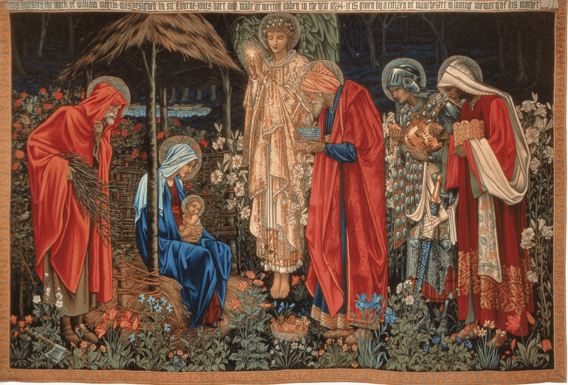 The Adoration of the Magi, tapestry, wool and silk on cotton warp