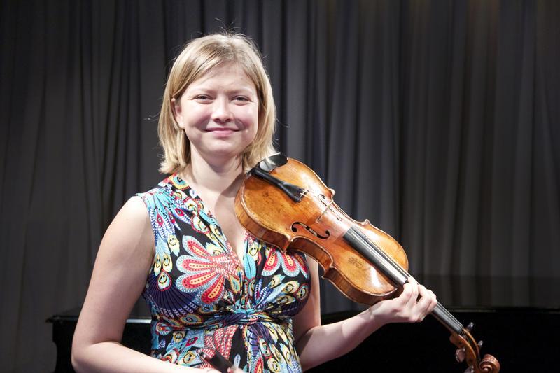 Violinist Alina Ibragimova in the WQXR studio.