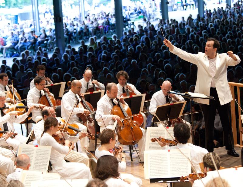 Andris Nelsons and the BSO at Tanglewood.