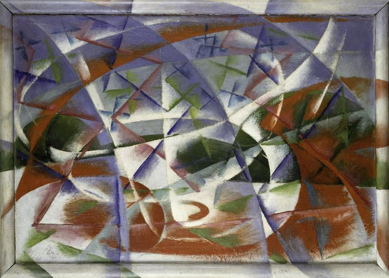 Giacomo Balla <em>Abstract Speed + Sound (Velocità astratta + rumore),</em> 1913–14