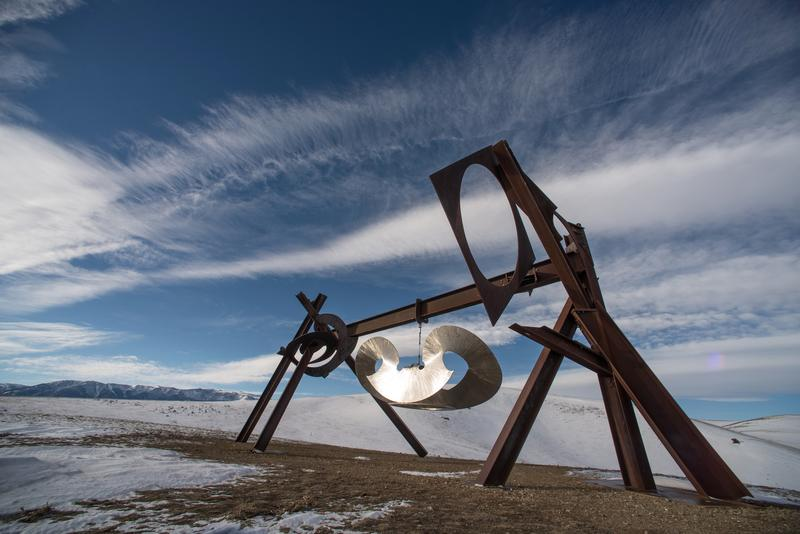 Mark di Suvero's 'Beethoven's Quartet' (2003) installed at TIppet Rise Art Center.
