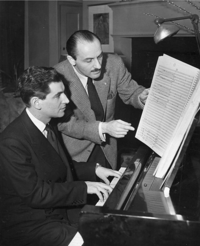 Leonard Bernstein and Marc Blitzstein in 1943.