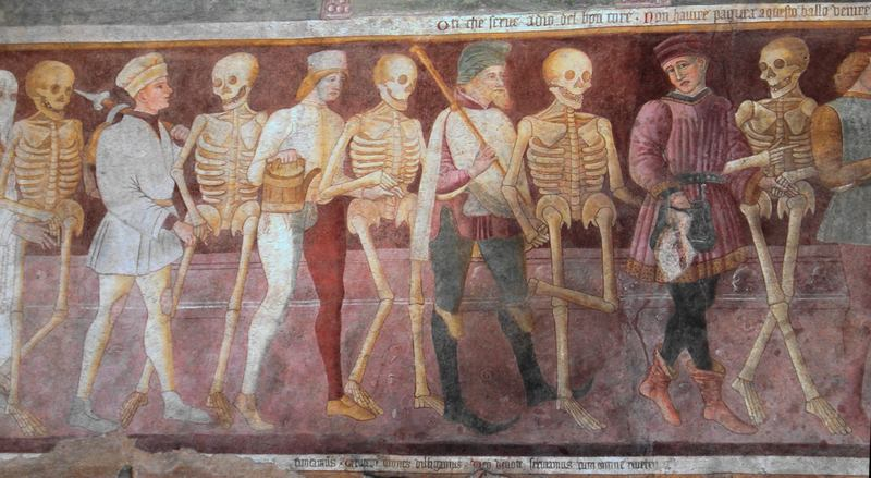 Danza macabra, detail Clusone, Bergamo, Italia