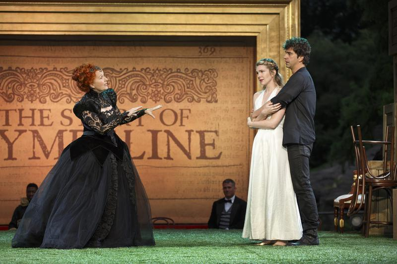Kate Burton, Lily Rabe and Hamish Linklater in The Public Theater's Free Shakespeare in the Park production of 'Cymbeline.'