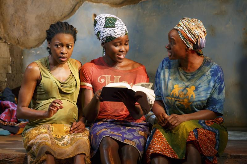 Pascale Armand, Lupita Nyong'o, and Saycon Sengbloh star in Danai Gurira's 'Eclipsed.'