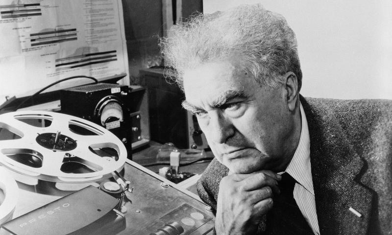 Edgard Varèse listens to his Poème electronique