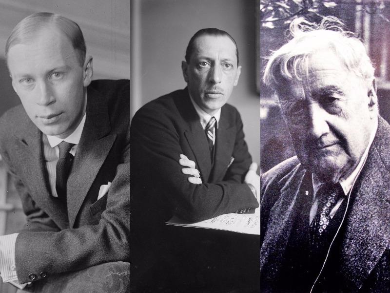 Prokofiev, Stravinsky and Vaughan Williams wrote extensively for the symphonic repertory.