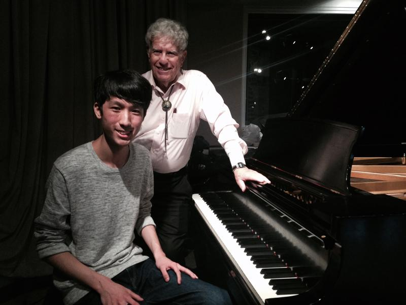 Eric Lu, winner of the National Chopin Competition, with Host Bob Sherman in the WQXR studio.