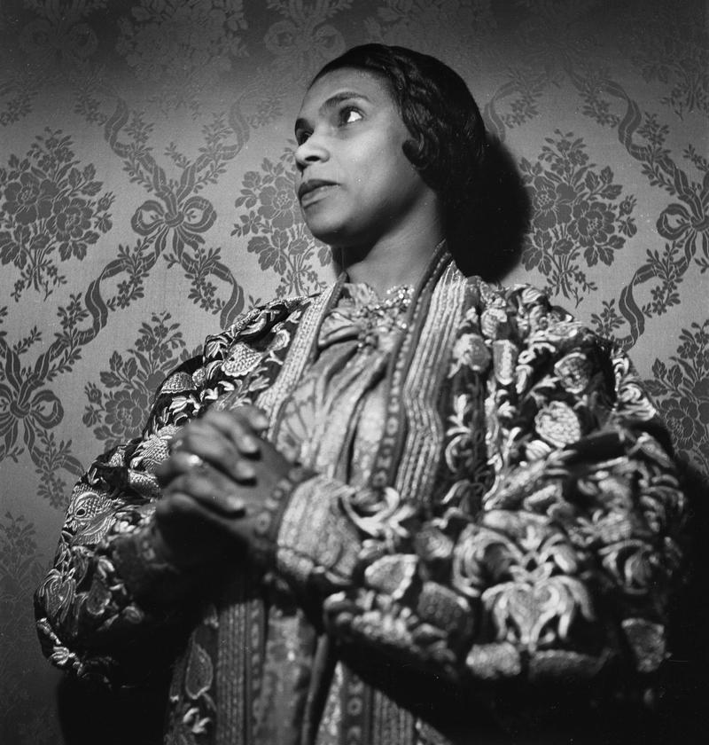 Marian Anderson 1902 1993 American Opera Singer France Circa 1955
