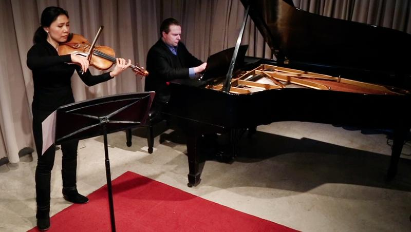 Violist Hsin-Yun Huang and pianist Ignat Solzhenitsyn play the second movement of Shostakovich's Sonata for Viola and Piano in the WQXR studio.