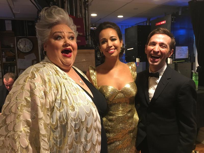 Mezzo-soprano Stephanie Blythe, soprano Nadine Sierra and countertenor Anthony Roth Costanzo at the 2017 Tucker Gala.
