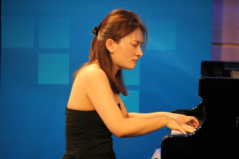 Pianist Yun Wei performing live at WQXR's Midday Masterpieces series
