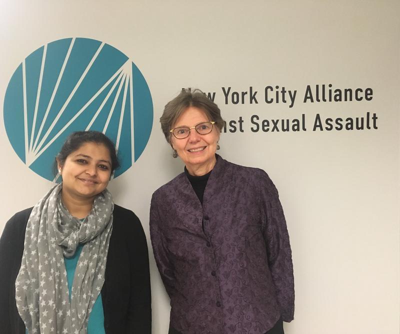Saswati Sarkar (left) and Mary Haviland (right) of the New York City