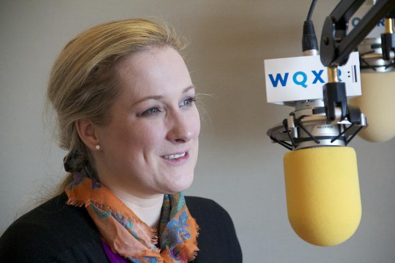 Diana Damrau at the WQXR studios