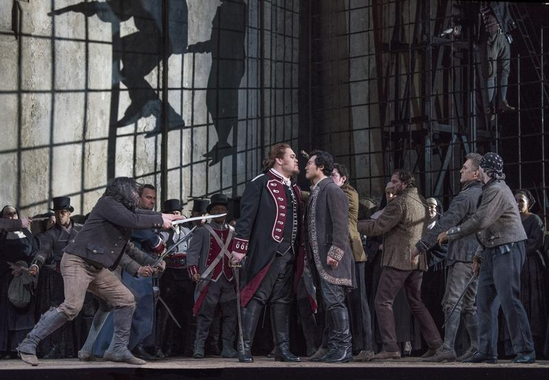 Kelsey as Count di Luna and Yonghoon Lee as Manrico in Verdi's 'Il Trovatore' at the Metropolitan Opera.
