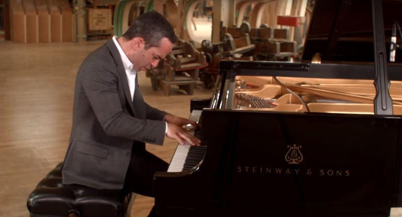 Inon Barnatan performs Mendelssohn at the Steinway Factory in Astoria, Queens.