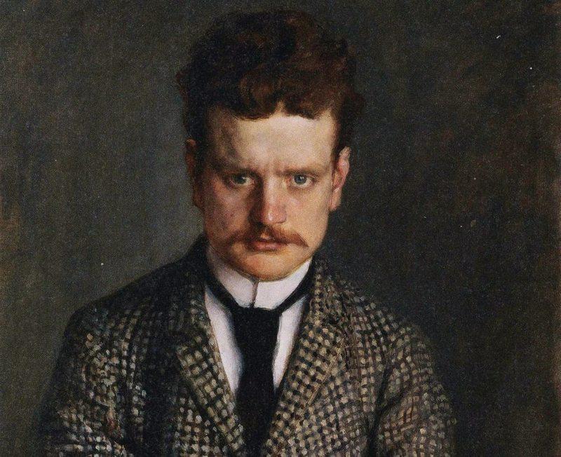 Portrait of Jean Sibelius by Eero Järnefelt, in 1892.