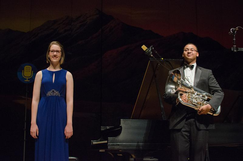 Composer Karalyn Schubring and euphonium player Joe Broom