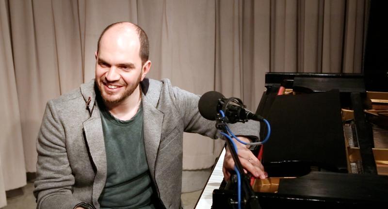 Pianist Kirill Gerstein in the WQXR Studio.