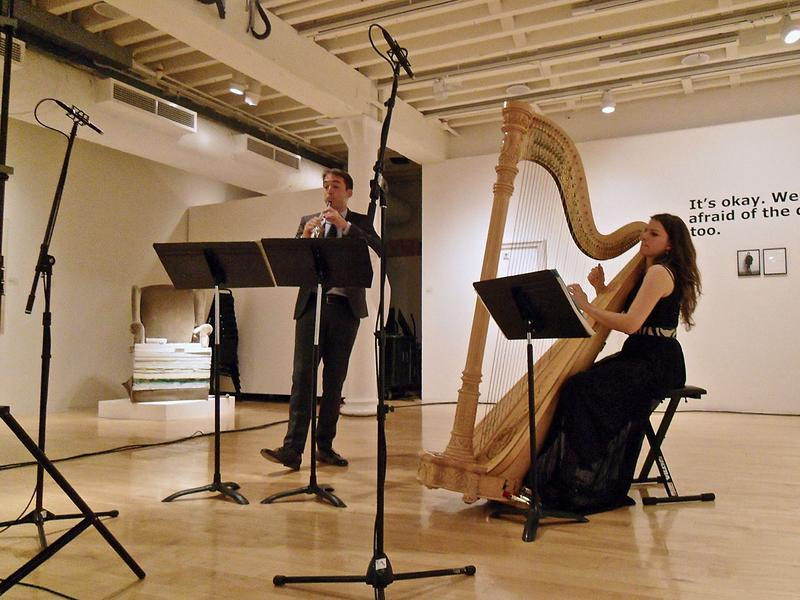 James Austin Smith and Bridget Kibbey perform at Look and Listen on April 30, 2016
