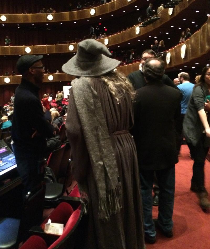 A concert-goer dressed as Gandalf at the 'Lord of the Rings in Concert'