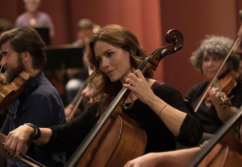 Saffron Burrows stars in 'Mozart in the Jungle' as the New York Symphony's principal cellist.