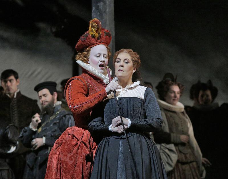 Elza van der Heever and Sondra Radvanovsky in 'Maria Stuarda.'
