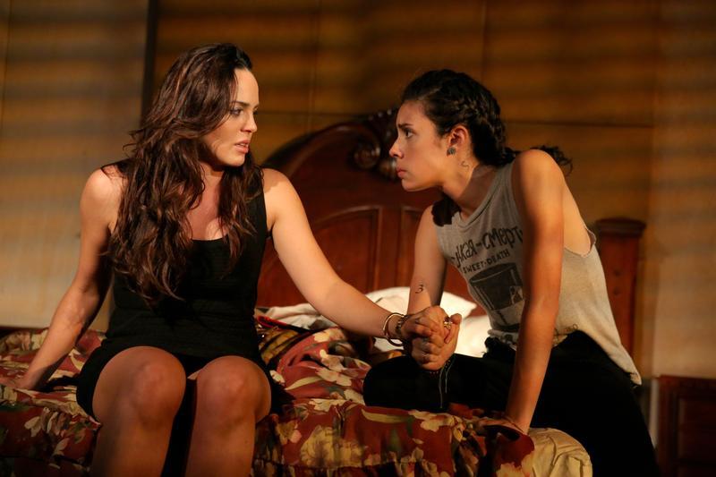 Marta Milans as Lili and Roberta Colindrez as Mari in 'Mala Hierba.'