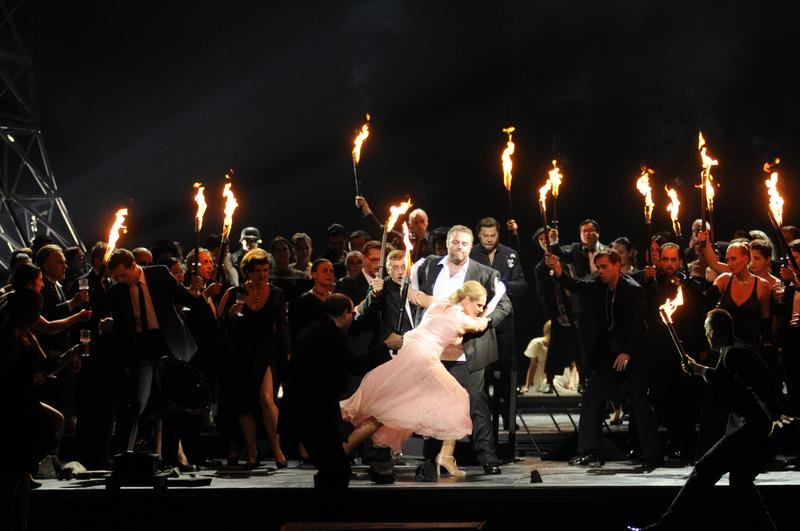 "Boito's 'Mefistofele"" in a production by the Bavarian State Opera from the National Theater in Munich."