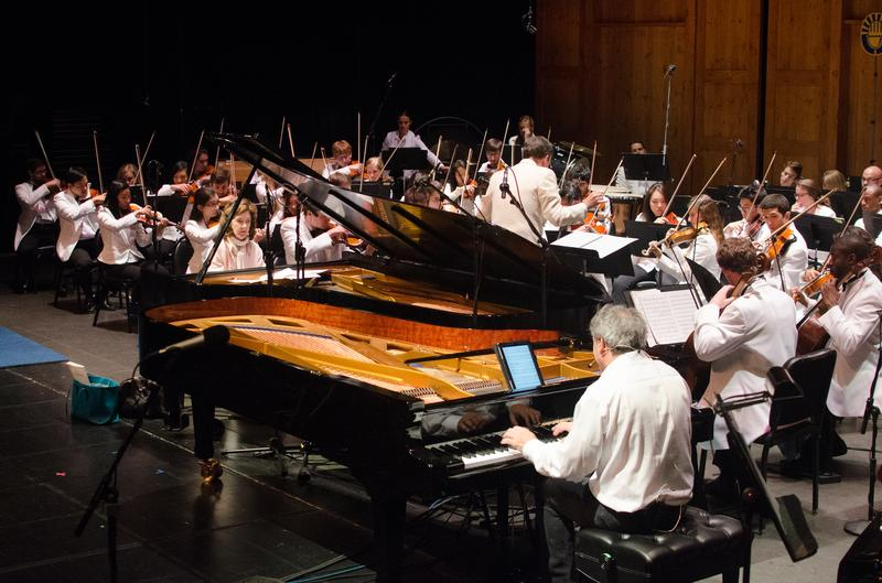 The National Repertory Orchestra with Christopher O'Riley and Anne-Marie McDermott.