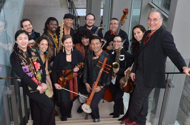 The musicians of the New Canadian Global Music Orchestra.
