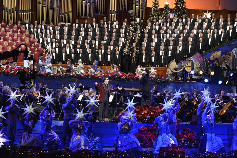 Rolando Villazón, Mack Wilberg, and the Mormon Tabernacle Choir.