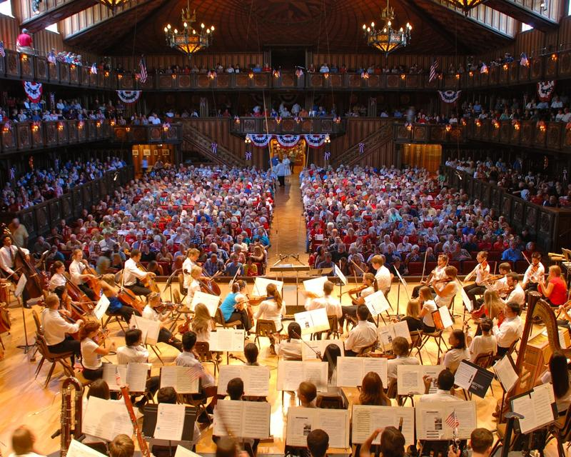 Festival Concert Hall at the Round Top Festival Institute in Texas
