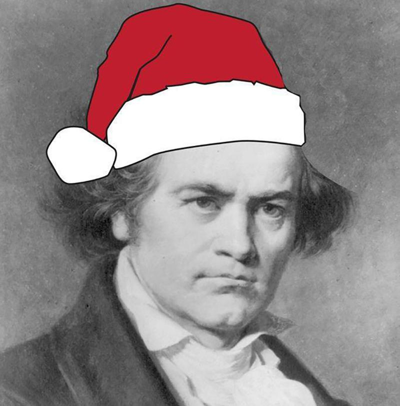 Santa Beethoven wishes you a merry holiday.