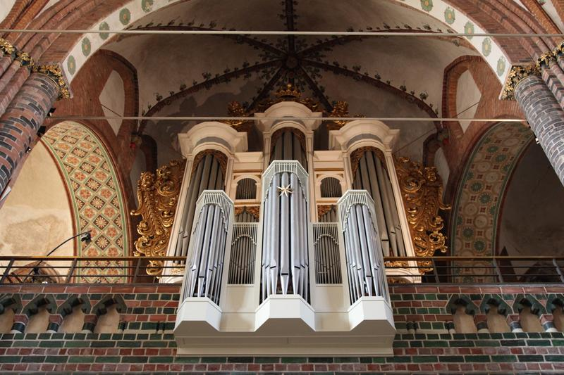 The 1963 Marcussen organ at the Cathedral of St. Peter in Schleswig, Germany.