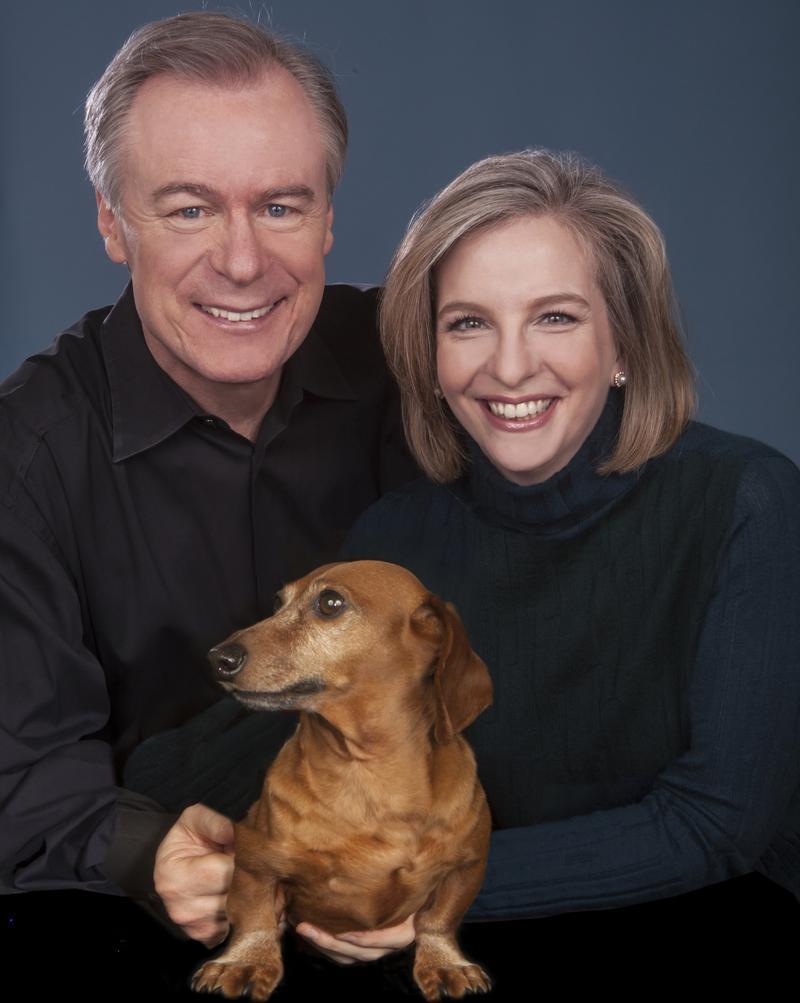Orli Shaham and David Robertson with dog Milo
