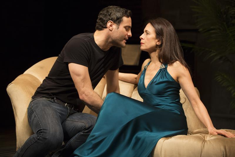 Jessica Hecht and Dominic Fumusa in 'Stage Kiss.'